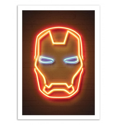 Limited Edition 50 ex. - Iron Man Neon - Octavian Mielu