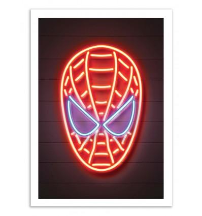 Illustration Art Poster, frame, print of Spiderman pop street art