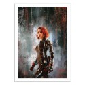 Art-Poster 50 x 70 cm - Black Widow - Wisesnail