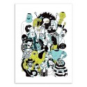 Art-Poster 50 x 70 cm - Crowd of dudes - Sarah Matuszewski