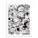 Art-Poster 50 x 70 cm - Doodle World - Sarah Matuszewski