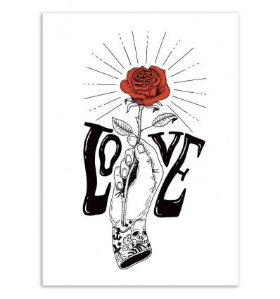 Hand with a rose - Sarah Matuszewski
