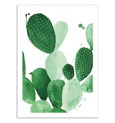 Limited Edition 50 ex. - Green Paddle Cactus - Jessica The Aestate