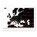 Art-Poster 50 x 70 cm - Europa Metro Map - Olivier Bourdereau