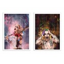 2 Art-Posters 30 x 40 cm - Duo Harley Quinn and Joker - Wisesnail