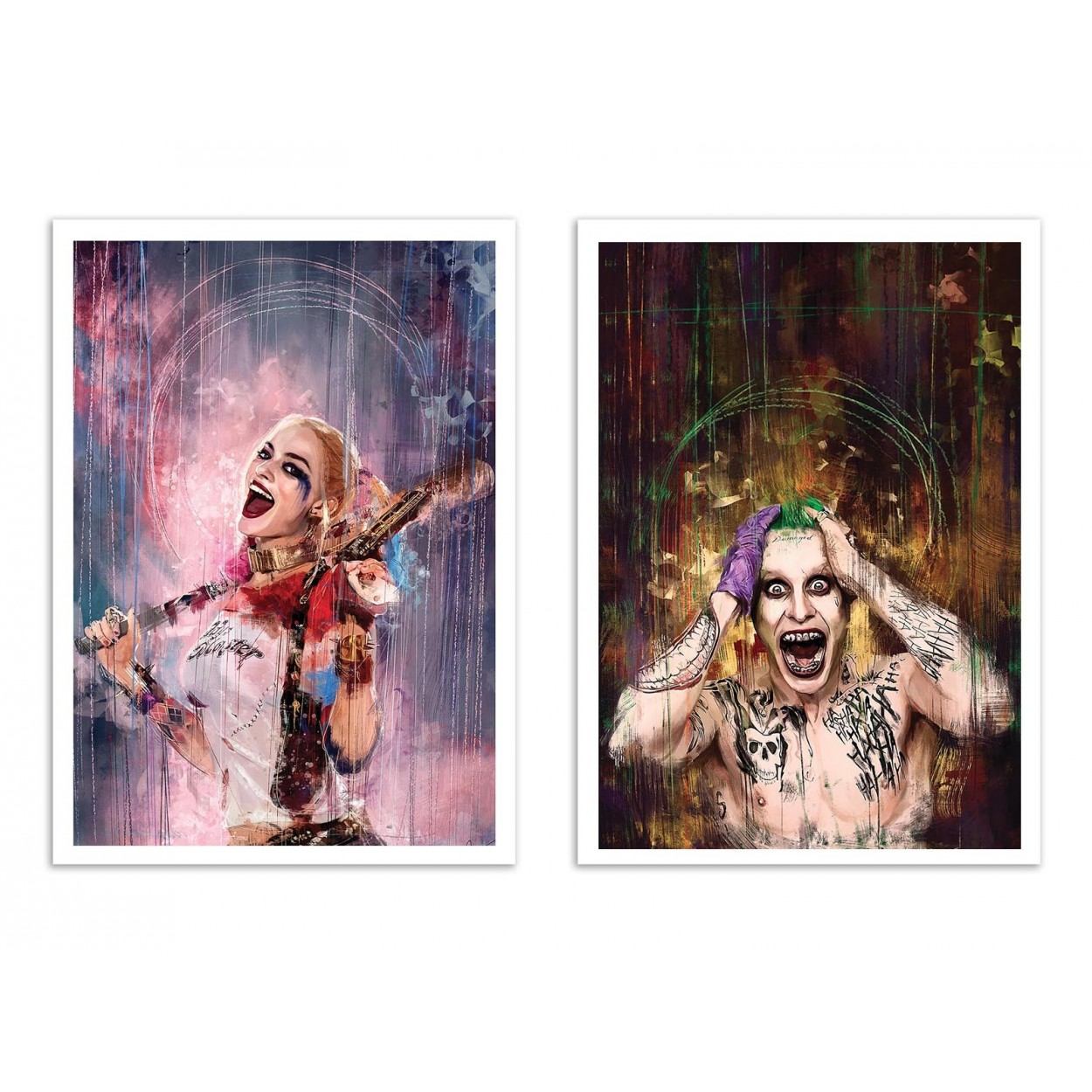 2 Art Posters 30 X 40 Cm By Duo Harley Quinn And Joker By Wisesnail