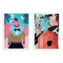 2 Art-Posters 30 x 40 cm - Duo Street Portraits - Sarah Matuszewski
