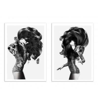 2 Art-Posters 30 x 40 cm - Duo Bears - Jenny Liz Rome