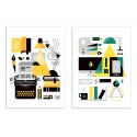 2 Art-Posters 30 x 40 cm - Duo Creative set and process - Koivo