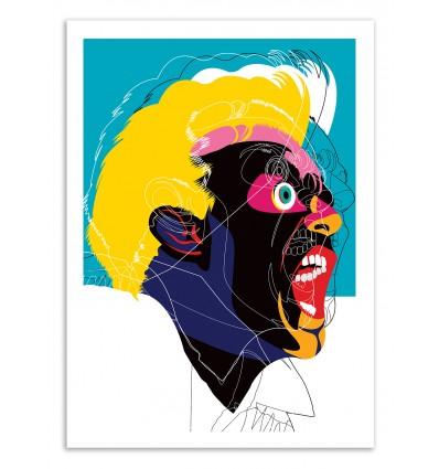 Art-Poster 50 x 70 cm - Edition 50 ex. - Man Yelling - Alvaro Tapia