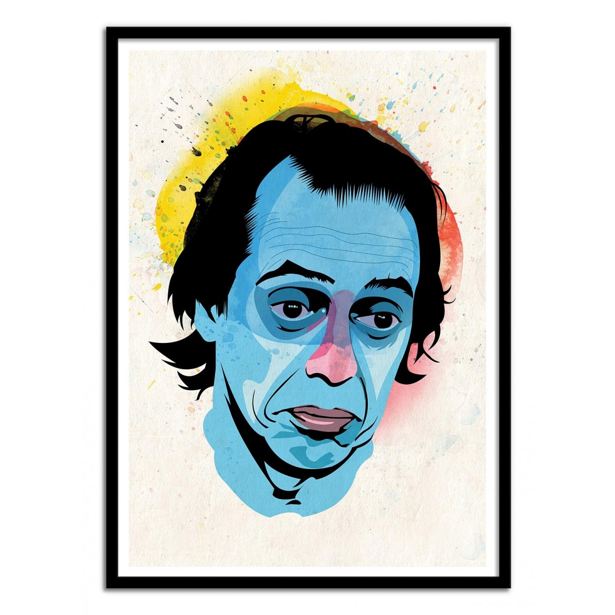 affiche d 39 art poster illustration peinture graphique portrait buscemi. Black Bedroom Furniture Sets. Home Design Ideas