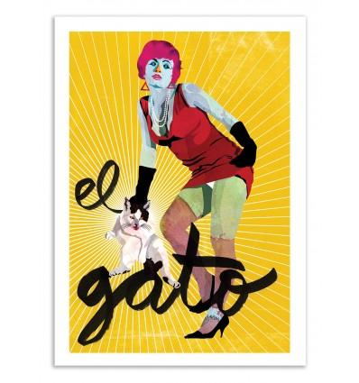 Art-Poster 50 x 70 cm - Edition 50 ex. - El Gato - Alvaro Tapia