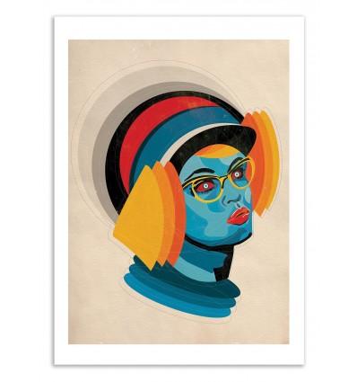 Art-Poster 50 x 70 cm - Edition 50 ex. - Helmet - Alvaro Tapia