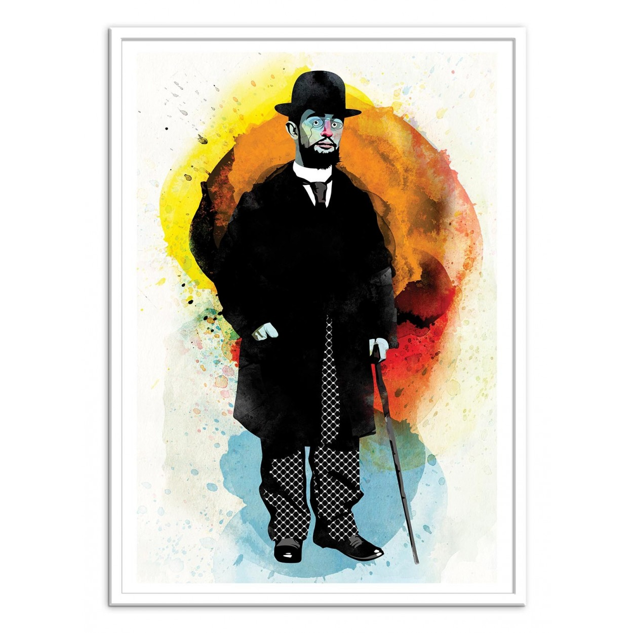 illustration art poster frame paint graphic portrait toulouse lautrec. Black Bedroom Furniture Sets. Home Design Ideas