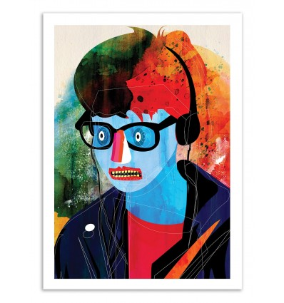 Art-Poster 50 x 70 cm - Edition 50 ex. - Walkman - Alvaro Tapia