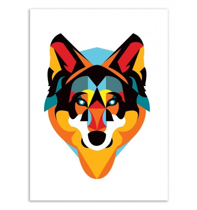 Art-Poster 50 x 70 cm - Edition 50 ex. - Wolf - Alvaro Tapia