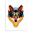 Art-Poster - Edition 50 ex. - Wolf - Alvaro Tapia