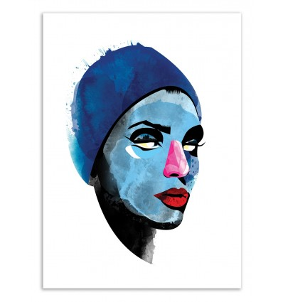 Art-Poster 50 x 70 cm - Edition 50 ex. - Woman Head - Alvaro Tapia