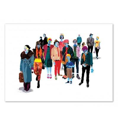 Art-Poster 50 x 70 cm - Edition 50 ex. - Pandilla - Alvaro Tapia