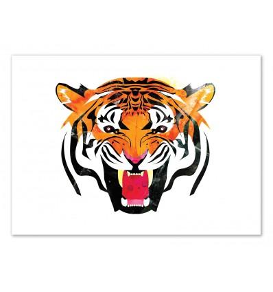 Art-Poster 50 x 70 cm - Edition 50 ex. - Tiger - Alvaro Tapia