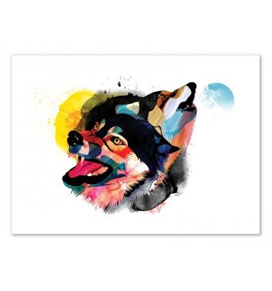 Art-Poster 50 x 70 cm - Edition 50 ex. - Wolves - Alvaro Tapia
