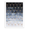 Art-Poster - Blue Hexagons Diamonds - Elisabeth Fredriksson