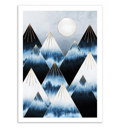 Art-Poster 50 x 70 cm - Frost Mountains - Elisabeth Fredriksson