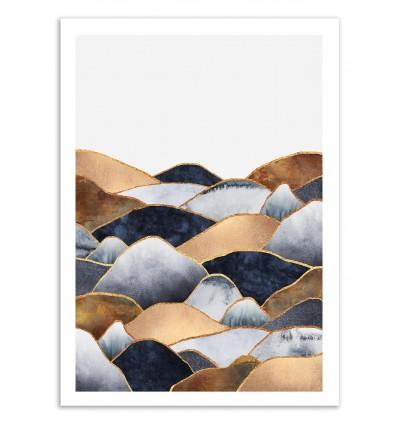 Art-Poster 50 x 70 cm - Hills - Elisabeth Fredriksson