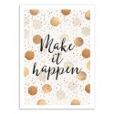 Art-Poster - Make it happen - Elisabeth Fredriksson