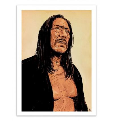 Art-Poster 50 x 70 cm - Danny Trejo - Giuseppe Cristiano