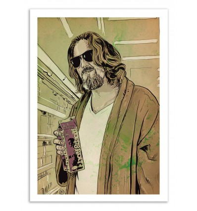 poster affiche d 39 art illustration de the big lebowski film. Black Bedroom Furniture Sets. Home Design Ideas