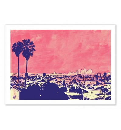 Art-Poster 50 x 70 cm - Los Angeles - Giuseppe Cristiano