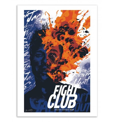Art-Poster 50 x 70 cm - Fight Club II - Joshua Budich