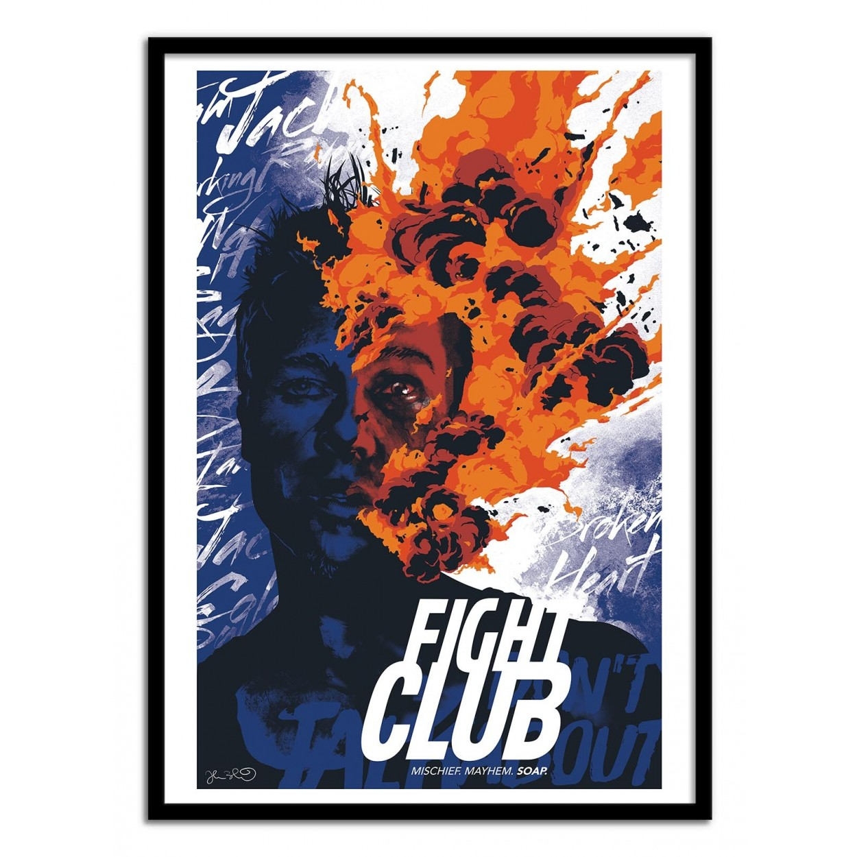 affiche art poster print manga comic movie fight club fan art inspiration joshua budich. Black Bedroom Furniture Sets. Home Design Ideas