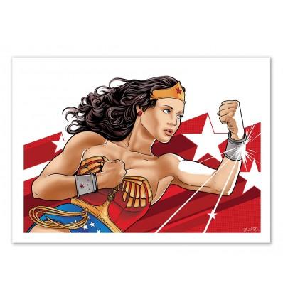 Art-Poster 50 x 70 cm - Wonderwoman - Joshua Budich