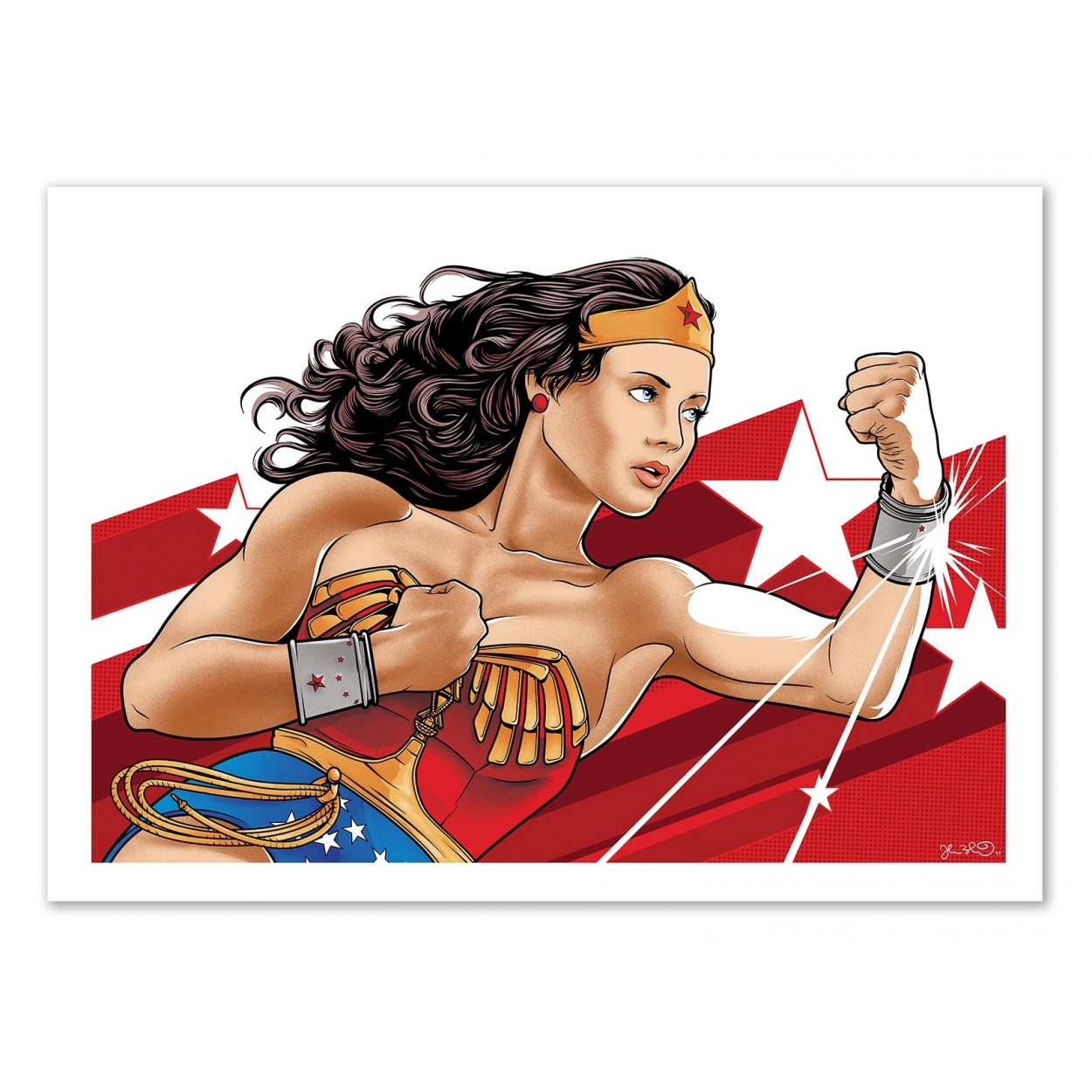 Affiche art poster print movie wonderwoman fan art inspiration for Bureau 70 x 50