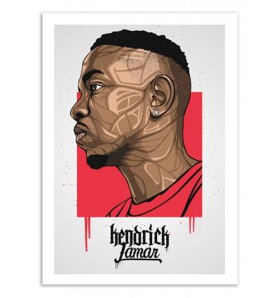 Art-Poster 50 x 70 cm - Kendrick Portrait - Bokkaboom