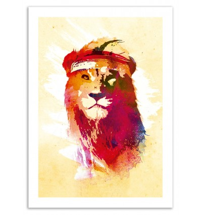 Art-Poster 50 x 70 cm - Gym Lion - Robert Farkas