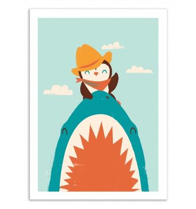 Art-Poster 50 x 70 cm - Yeehaw - Jay Fleck