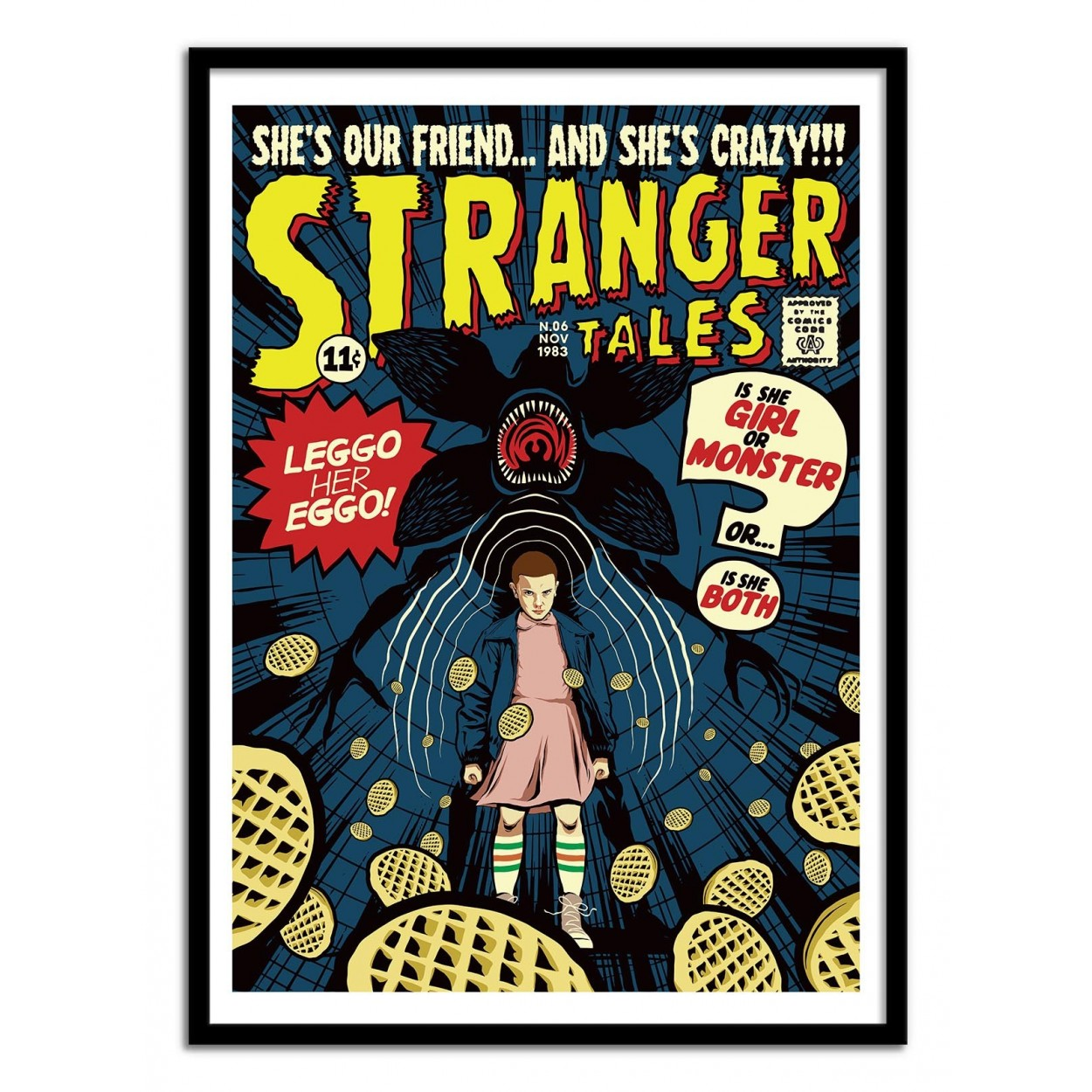 affiche d 39 art et poster illustration de la serie stranger things. Black Bedroom Furniture Sets. Home Design Ideas