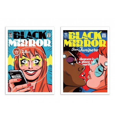2 Art-Posters 30 x 40 cm - Duo Black Mirror Episodes - Butcher Billy