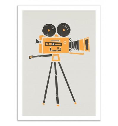 Art-Poster 50 x 70 cm - Cine Camera - Fox and Velvet