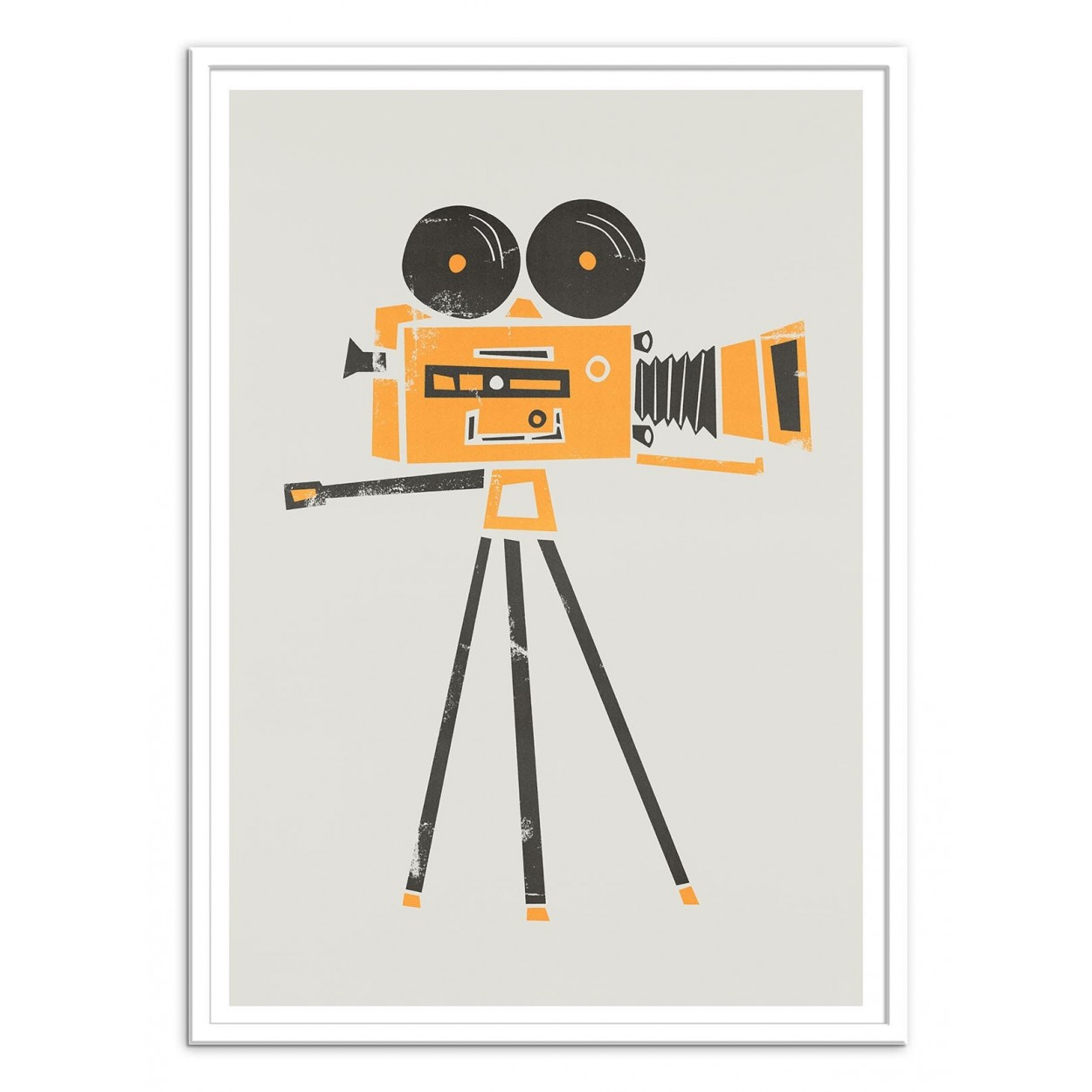Poster design 50x70 -  Art Poster 50 X 70 Cm Cine Camera Fox And Velvet