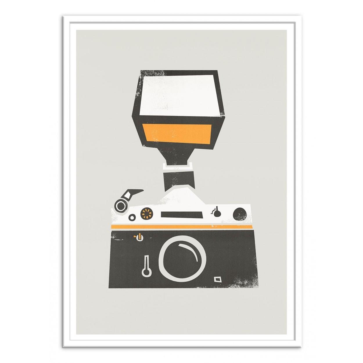 Poster design 50x70 -  Art Poster 50 X 70 Cm Slr Camera Fox And Velvet