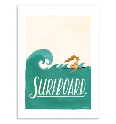 Art-Poster 50 x 70 cm - Surfboard - Nour Tohme