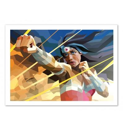 Art-Poster 50 x 70 cm - Wonderwoman - Liam Brazier