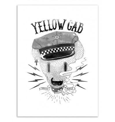 Art-Poster 50 x 70 cm - Bad Taxi Driver - Robert Farkas
