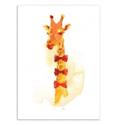 Art-Poster 50 x 70 cm - Elegant Giraffe - Robert Farkas