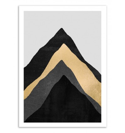 Art-Poster 50 x 70 cm - Four mountains - Elisabeth Fredriksson