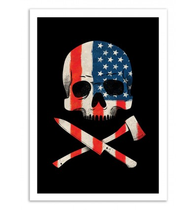 Art-Poster 50 x 70 cm - American Psycho - Chris Wharton